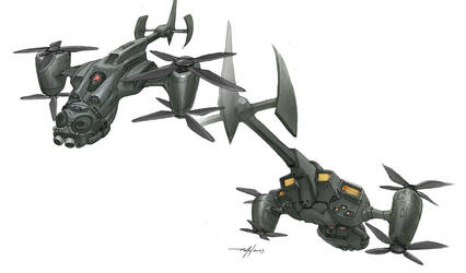 Concept Art Oldies-Spaceships4 by dannlord