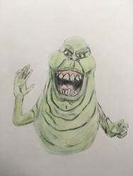 Slimer from Ghost Busters 1984 by CaptainEdwardTeague