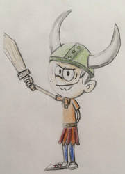 Lincoln Loud cosplaying as a Viking by CaptainEdwardTeague