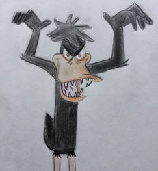Daffy Duck as a Hideous Monster by CaptainEdwardTeague