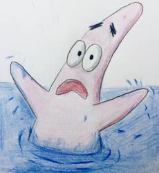 Patrick Star 'Drowning' by CaptainEdwardTeague