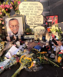 Stan Lee Memorial on Hollywood Walk of Fame by CaptainEdwardTeague
