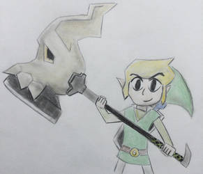 Toon Link and Skull Hammer by CaptainEdwardTeague