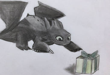 Toothless and Present by CaptainEdwardTeague