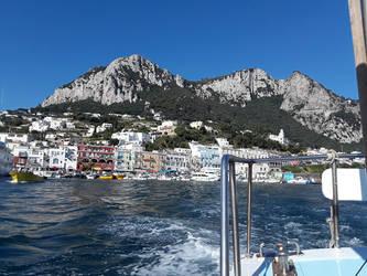 Italian Coast from a boat by CaptainEdwardTeague