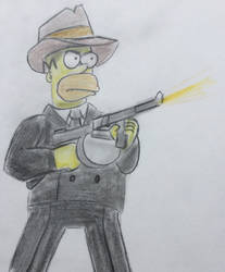 Homer Simpson by CaptainEdwardTeague
