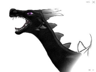 Minecraft Ender Dragon Head by snettiknayc