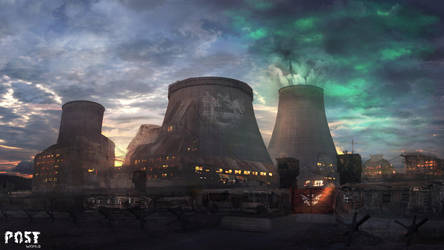 Nuclear power plant by lefilsdesetoiles