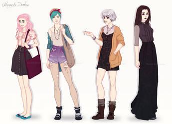 VO Girls by ribkaDory
