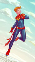 Captain Marvel by ribkaDory
