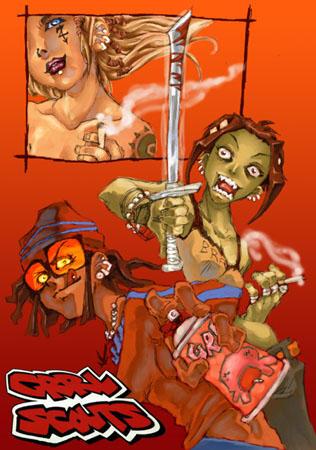 Grrl Scouts by Rafchan