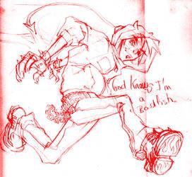 Sketchy yoshi. by Rafchan