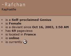 Rafchan got 69 pageviews. by Rafchan