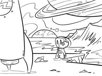 Landing -lineart- by mamdragon