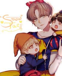 KIM Snow TAE TAE + Speedpaint by Iku-Aldena