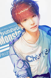 SPEEDPAINT:'Hyungwon'|MONSTA X[Prize 4 lorichi75] by Iku-Aldena