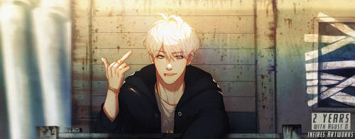 #2YearsWithAgustD + Speedpaint by Iku-Aldena