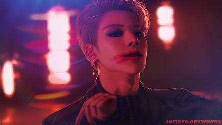 [ATEEZ FANART] - Wooyoung - [HALA HALA] by Iku-Aldena