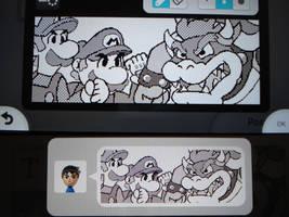Miiverse - Mario and Luigi vs. Bowser by MAST3RLINKX