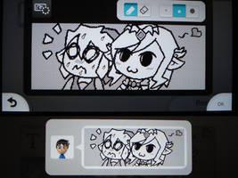Toon Link and Toon Zelda by MAST3RLINKX