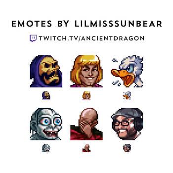 Twitch Meme Emote Commissions: AncientDragon by LilMissSunBear