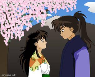 Kohaku and Rin: Spring Love by blondishnet