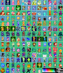 Super Mario Maker - 8-Bit Character Costumes 32x32 by RidgeTroopa
