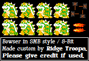 Bowser - Super Mario Bros. / 8-Bit by RidgeTroopa