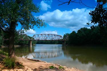 Wabash River Bridges by Dellessanna