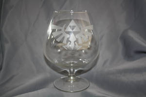 Custom engraved Zelda glass by Yuki-Myst