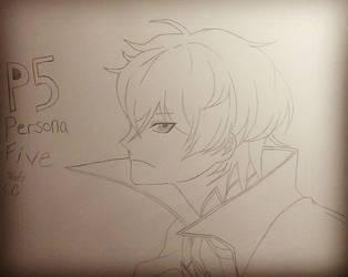 Persona 5 Protagonist by BlackBlood100