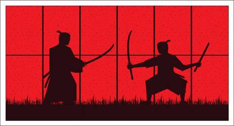 Midnight duel by samurai-artist
