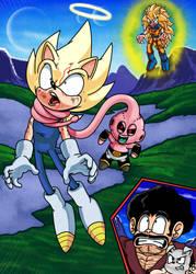 Sonic DBZ: Vegeta vs Chao Buu by WaniRamirez