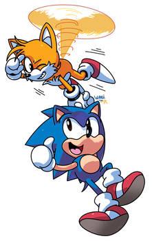 Sonic and Tails by WaniRamirez