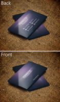 Creative Purple Business Card by SMHYLMZ
