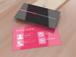 Metro Inspired Clean Business Card by SMHYLMZ