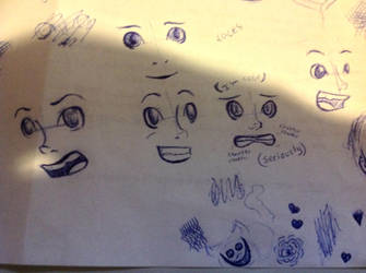 Driving School Sketches 1 'Faces' by TheVentilationSystem