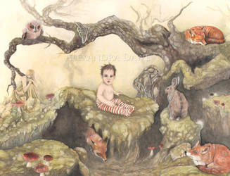 Woodland child by alexandradawe