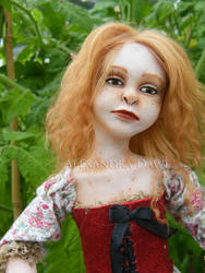 Megan's doll close-up by alexandradawe