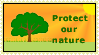 Protect our nature STAMP by SheilaMBrinson