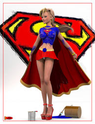 Supergirl Painted by sodacan