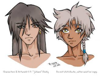 WR OCs - Kawa and Teiru by jidane
