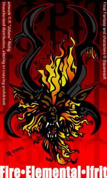Fire Elemental Ifrit by jidane