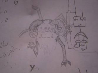 Weird big bad spider by supergalleta