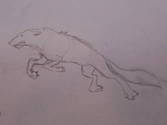 Rushing wolf by supergalleta
