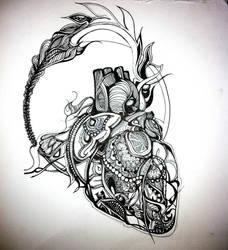 Untitled - Heart WIP by wantonlemonade