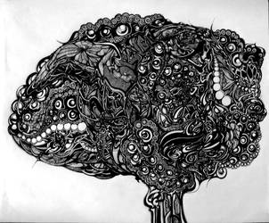 Right Hemisphere - Mental Octopus by wantonlemonade