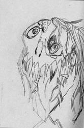 inktober day 3- fear by dango117