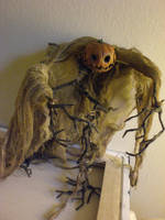 scarecrow scupture by FlyingSaucerTeacup
