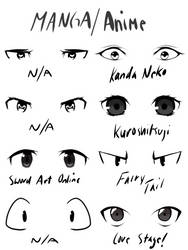 Different Eye Styles by T1G3RW0LF
